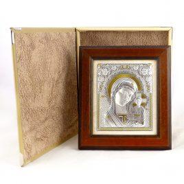 Икона Казанская в деревянной рамке