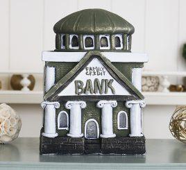 Копилка Банк семьи- оливковый гипс