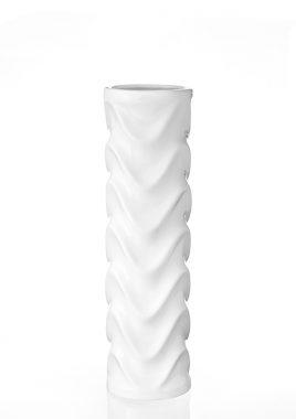 Ваза Цилиндр керамика белая 11*11*35 см 0005 белая