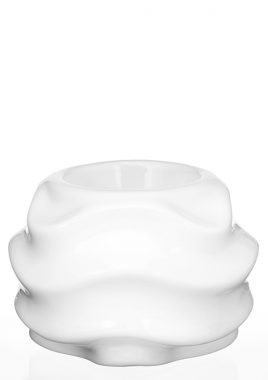 Подсвечник белая керамика 11*11*8 см 0006 белый