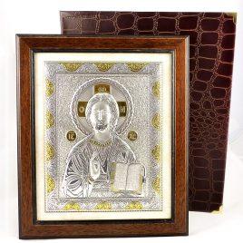 Икона  Иисус Христос в деревянной рамке 214