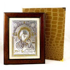 Икона Богородицы Неустанной Помощи в деревянной рамке 2035