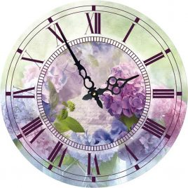 Часы круглые настенные СИРЕНЬ 60 см Гранд Презент d6009