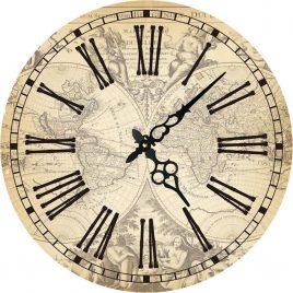 Часы круглые настенные КАРТА  60 см