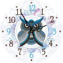 Часы круглые настенные СОВУШКА 60 см Гранд Презент d6021