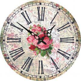 Часы круглые настенные РОЗЫ 60 см