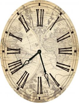 Часы овальные настенные КАРТА 46*60
