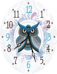 Часы овальные настенные СОВУШКА 46*60 Гранд Презент d466021