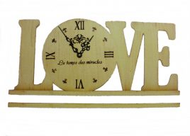 Часы настольные, настенные LOVE