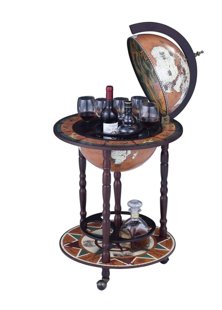 Глобус бар напольный на 3 ножках 450 мм 45001N-M