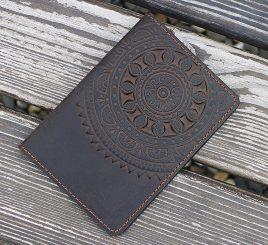 Обложка для паспорта ЭТНО коричневый 9.5*13.5см Гранд Презент 01-8К