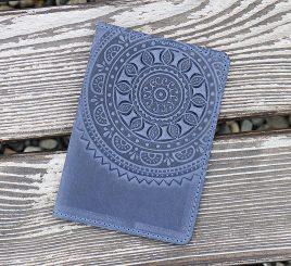 Обложка для паспорта ЭТНО синий 9.5*13.5см Гранд Презент 01-8С