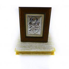 Икона Кормящая в деревянной рамке 355