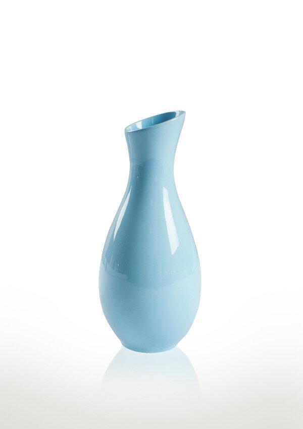 Ваза керамика голубая волна 5.5*5.5*13 см 101-13 B