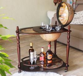 Глобус бар со столиком коричневый