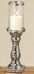 Подсвечник Prue керамические серебро h36см d10см 1002827