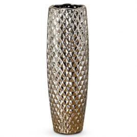 Ваза Manea керамика серебро h45 d15cм