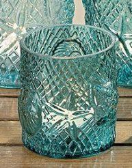 Подсвечник Sealife бирюзовое стекло h13см 1006063