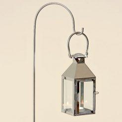 Подсвечник фонарь Jason серебряная нержавеющая сталь h115см 1170300