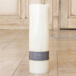 Светодиодная свеча Пламя кремовый воск h30см d9см 2591200