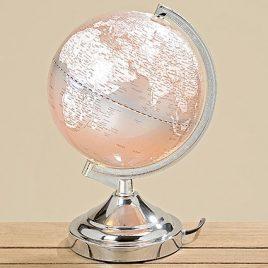 Лампа Глобус серый пластик h32d20см