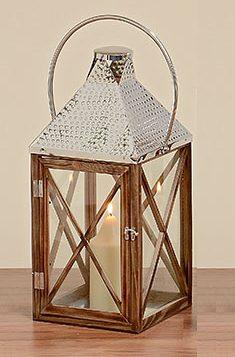 Подсвечник фонарь Pisek натуральное дерево, стекло 30x30x70cм 3271700Б