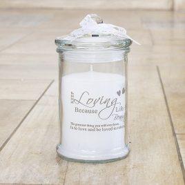 Декоративная свеча Любовь h14d8см 3695500