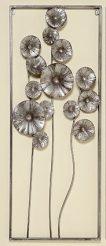 Настенный декор Цветок серебряный металл h100см 4499100