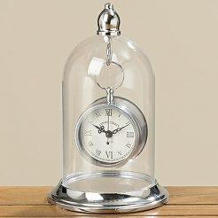 Часы Белина серебряный металл, стекло h26см