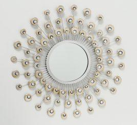 Настенный декор зеркало Расмус шампанское d82см