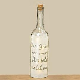 Светодиодная бутылка Фанни прозрачное стекло h30см 8011100