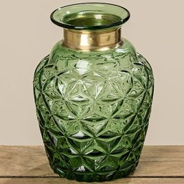 Ваза Stratos зеленое стекло h18см 8079800