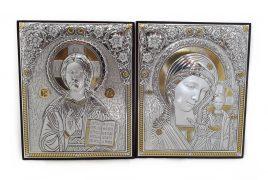 Пара С.  Спаситель Казанская на деревянной основе 11200