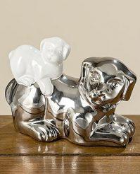Статуэтка собачка Фелиция цветная керамика h11см 1004812