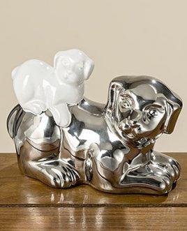 Статуэтка собачка Фелиция цветная керамика h11см