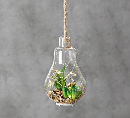 Светодиодная лампа с установкой стекло h12см