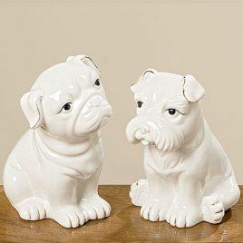 Статуэтка собака Йорис белая керамика h12см Гранд Презент 1005920