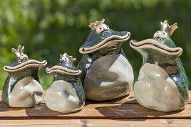 Статуэтка лягушка Кимбо керамика h16см
