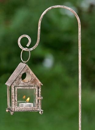 Садовый фонарь бежевый металл 3409000
