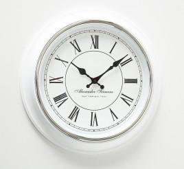 Часы Yella белый полистоун d40cm