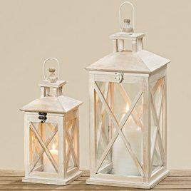 Подсвечник фонарь деревяный стекло h35см