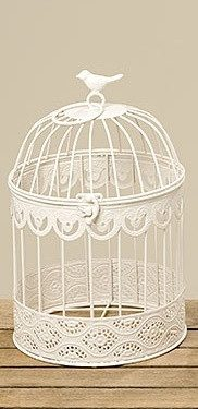 Декоративная клетка Frederique белая металл h39см 3903500Б