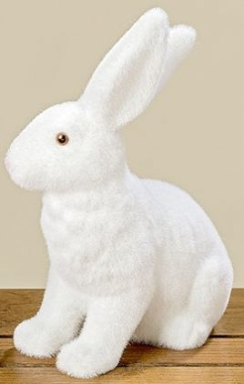 Статуэтка кролик Дора белый полистоун h21-25см