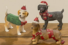 Статуэтка собака Эмиль цветная полистоун h8,5см