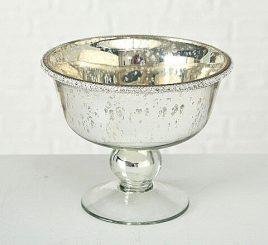 Декоративная миска Дион лакированное серебряное стекло d15 h12cm 2004800
