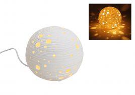 Настольная лампа сфера белый керамика 21см 10014014