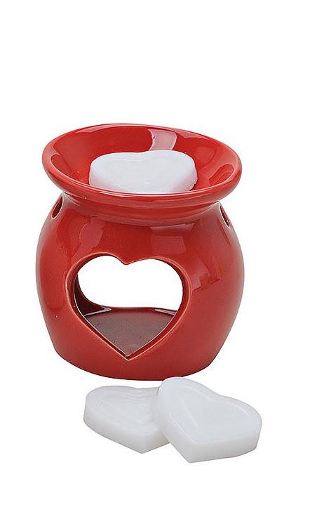 Аромалампа с 3-мя ароматическими сердечками, керамика 8X7см 10014032