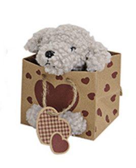 Собачка плюшевая в мешочке 11см 10016242