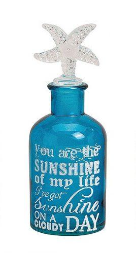 Стеклянная бутылка с пробкой из стекла 6X13х18см 10016618