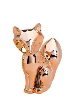 Статуэтка Лисичка золотая/серебряная/медная керамика 15X6X17см Гранд Презент 10018351